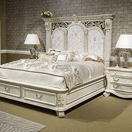 Villa Di Como 4pc King Storage Panel Bedroom Set By AICO