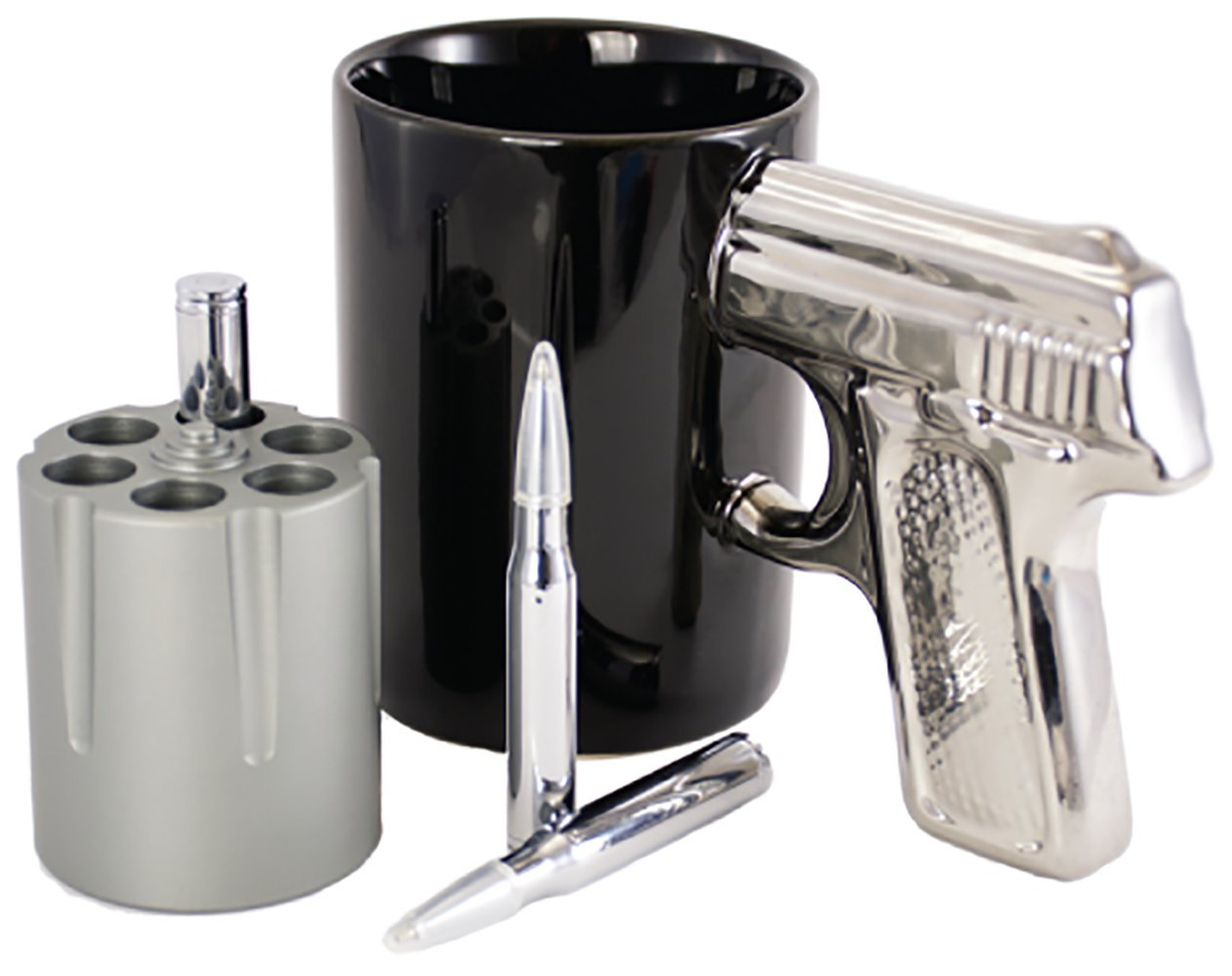 Amazon.com: Revolver Cylinder Pen Holder - Holds Up to 6 Pens - Made ...
