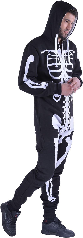 tallas S - XL Mono con capucha para hombre Aztec Army Print Onesie Zip Up All In One