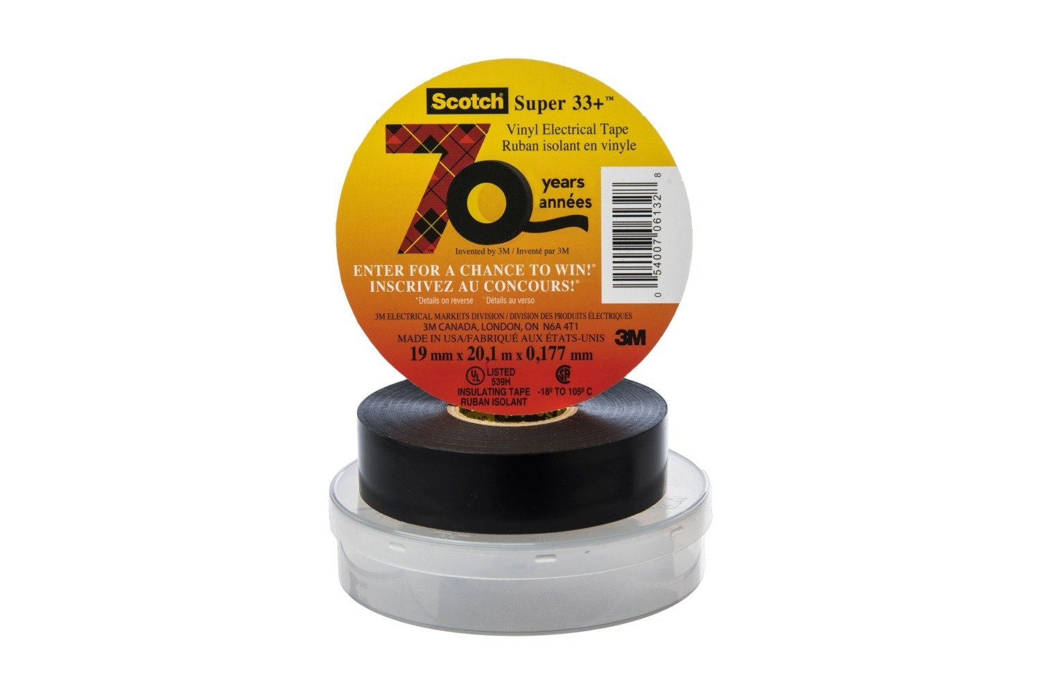 Amazon.com: Scotch Super 33+ Vinyl Electrical Tape, 3/4 in x 66 ft: Industrial & Scientific