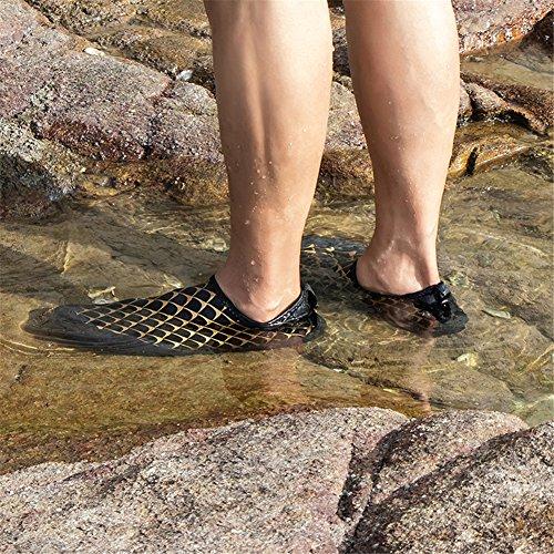 Negro Beach Descalzo Quick Para Dorado Diving De Dry Hombre Calzado Swimming Agua nqARvpTWf1