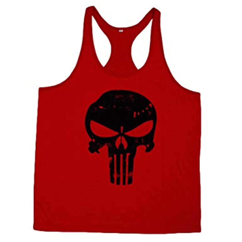 KODOO Canotta da Uomo Maglietta Sportiva Senza Maniche Bodybuilding Fitness Palestra Slim Fit Casual Smanicata T-Shirt