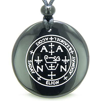 Amazon Sigil Of The Archangel Zadkiel Amulet Black Agate Magic