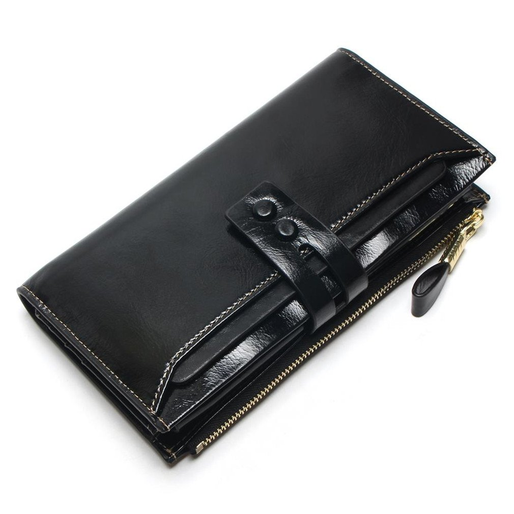 Yosohbag Women Wallets Long Design Clutch Wallet Pu Leather Fashion Female Purse Black