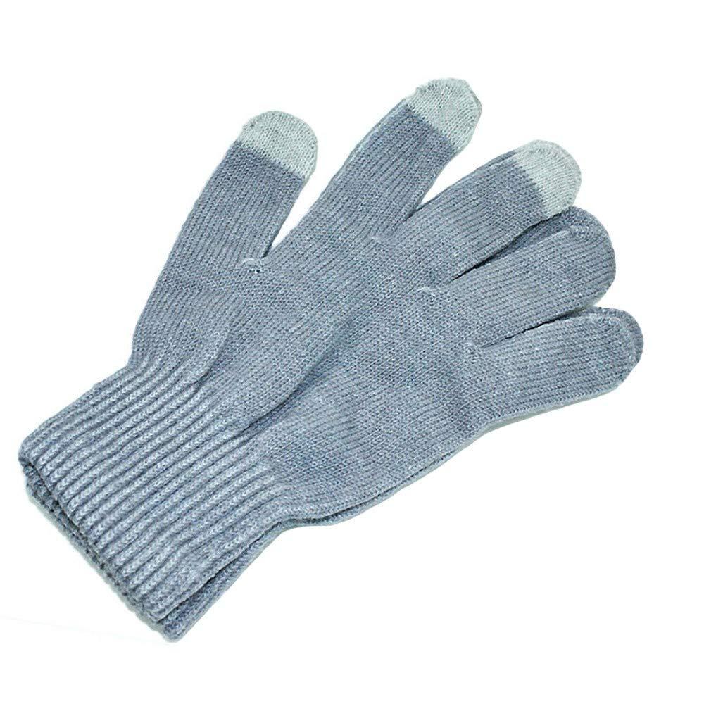 598c77a3ae699b Mitlfuny Mens Winter Cashmere Stricken Touchscreen Finger Bildschirm Warme  Fleece Handschuhe: Amazon.de: Küche & Haushalt
