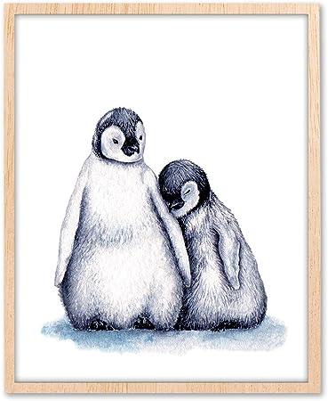 Penguins Watercolor Animals Wall Art