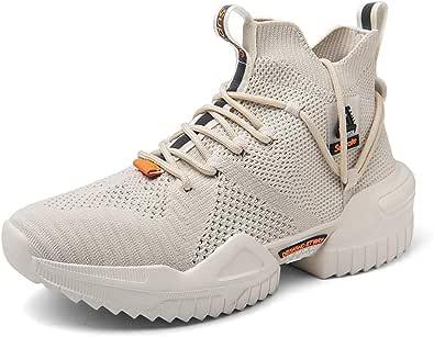 Ahico Hombres Zapatos para Caminar Moda Entrenadores Correr Atlético Antideslizante Plataforma Calcetines Calzado Elegante Casual Fitness Deportes cómodos