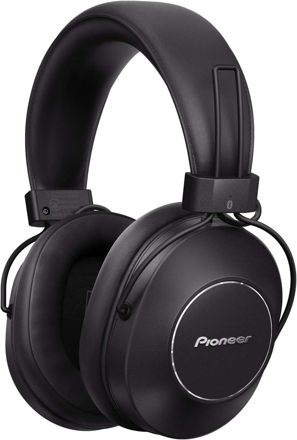 Pioneer S9 Auriculares over-ear Bluetooth (asistente de voz, NFC, cancelación de ruido, 24h de batería) color negro