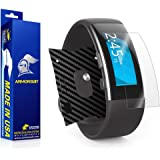 ArmorSuit MilitaryShield - Microsoft Band 2 Screen Protector [Full Coverage] + Black Carbon Fiber Full Body Skin / Front Anti-Bubble Ultra HD Shield w/ Lifetime Replacements