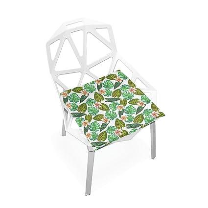Amazon.com: Cojín de asiento Plao, Tropical exótico plantas ...