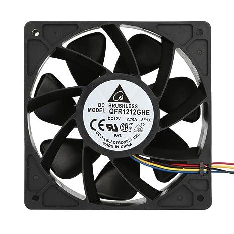 soporte portatil ventilador pc Sannysis Ventilador para caja de ordenador Enfriamiento del ventilador reemplazo de conector de 4 pines negro: Amazon.es: ...