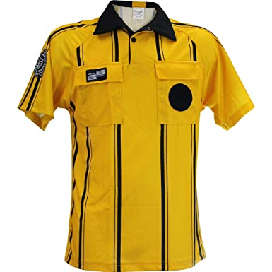 86d876bf405 Official Sports International Adult Unisex USSF Pro Soccer Referee Jerseys  Gold -Striped Large Gold