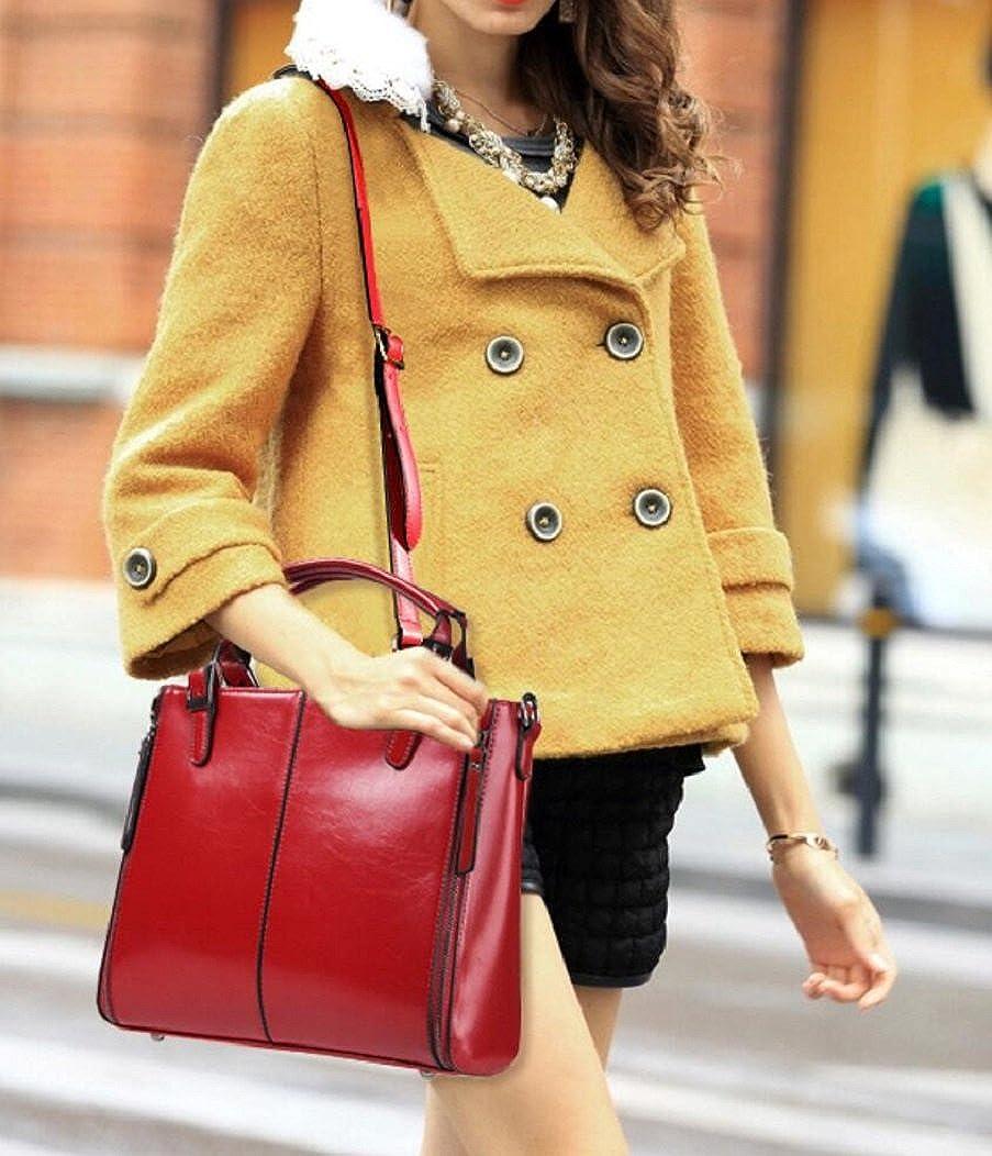 Womens Briefcase Leather Top Handle Bag Laptop Satchel Shoulder Handbag Purse 6210-07nvfc
