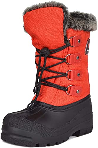 New Kids Girls Children Fur Warm Cosy Comfy Winter Boots Snow Shoes Size UK