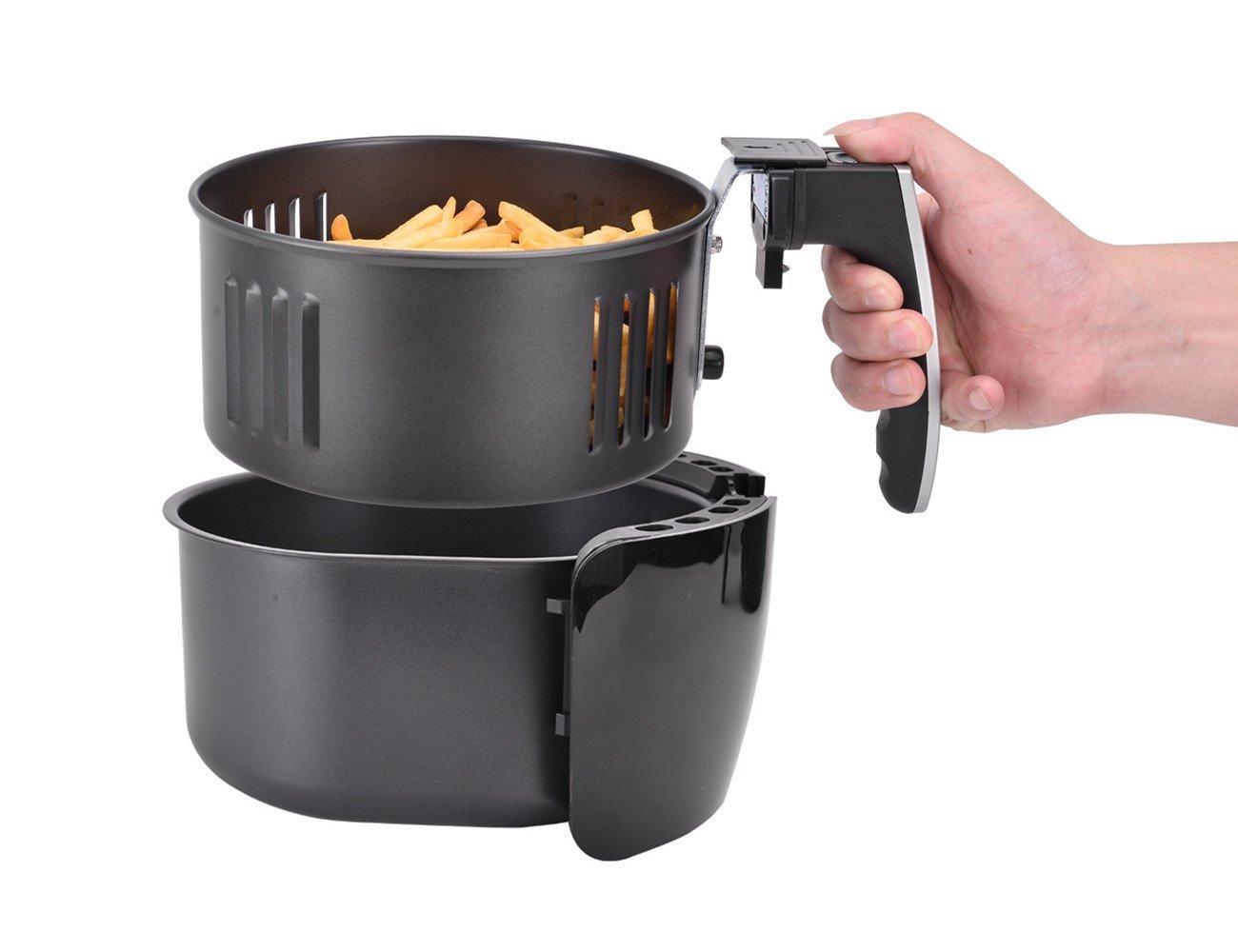 Amazon.com: Kintech Depp Air Fryer 3.2 QT, Electric Hot Air Fryer with Time & Temperature Control: Kitchen & Dining