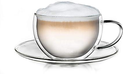 ecooe Doppelwandige Cappuccino Tassen