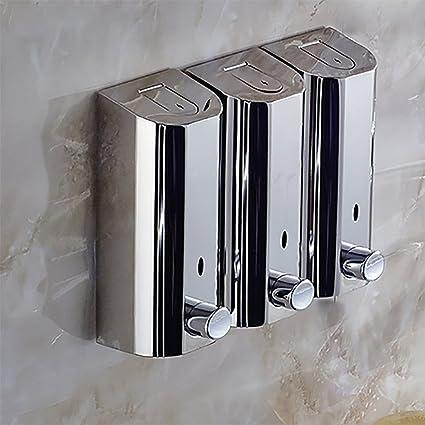 Jabón, dispensador de pared Dispensador de acero inoxidable del jabón Manualmente] Fáciles de instalar