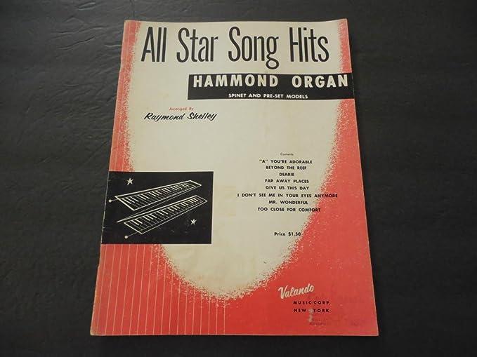 All Star Song Hits Raymond Shelley Hammond Organ 1961 at