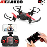 Metakoo M2 Foldable RC Mini Drone for Kids, 2.4GHz 6-Axis 4CH Portable Helicopter, Quadcopter with FPV WiFi Camera, Altitude Hold, 3D Flips, Headless Mode and One-key Return