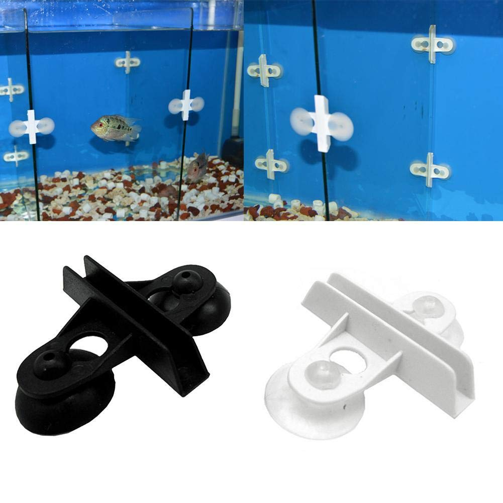 SharpointHome 10 Pack Fish Tank Isolation Clip Divider Suction Cup Separations Clips for Aquarium Plastic Divider Sheet
