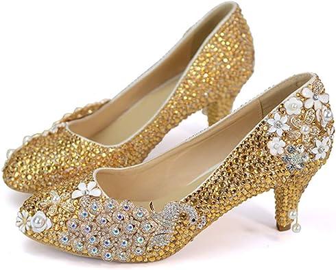 Rhinestone Pumps Wedding Party Shoes