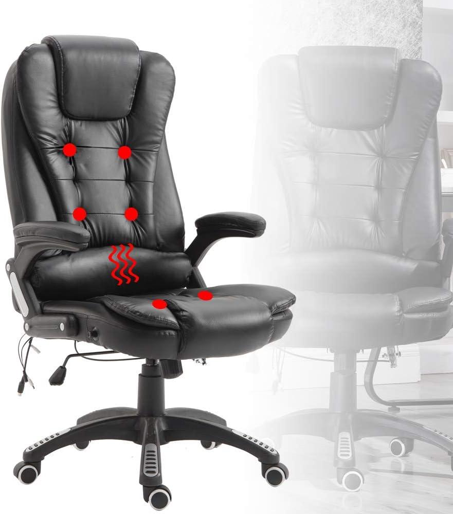 Froadp - Sillón de masaje ergonómico, altura regulable, silla de oficina, silla de escritorio, silla de gaming, capacidad de carga 150 kg