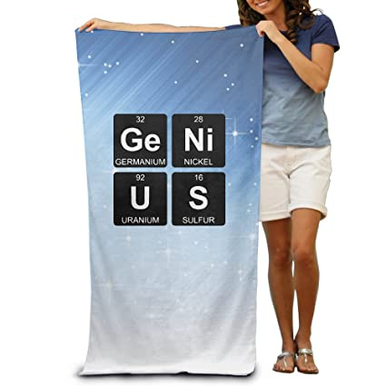 Toalla de playa, diseño de tabla periódica Genius toalla de microfibra