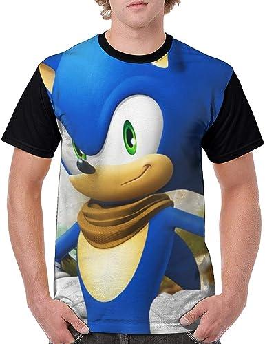 Amazon Com Sonic The Hedgehog Sonic Boom Men Classic Polyester Short Sleeve Shirt Anime T Shirt Clothing