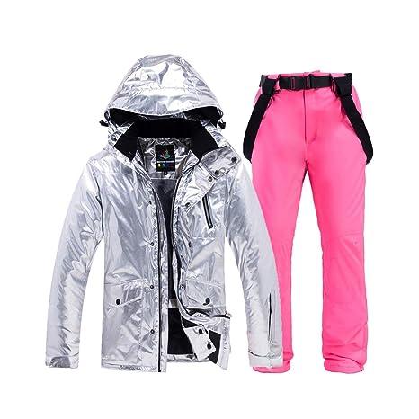 WYPG Trajes De Esquí Chaqueta De Mujer + Pantalones, Snowboard ...