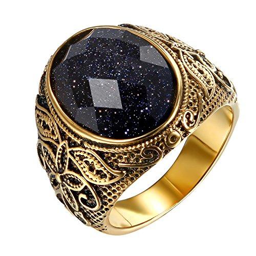 OIDEA RingHerren Gold Schwarz