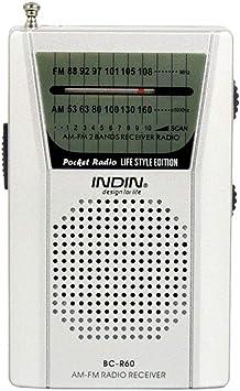 Szaerfa Radio portátil de pequeño tamaño Mini Pocket Radio Am ...