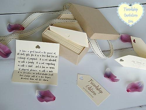 Amazon.com: Friendship Quotes - Box of 50 Handmade ...