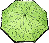 Green Stitches - Zombie Frankenstein Umbrella - Expands to 21'' - Sourpuss Brand