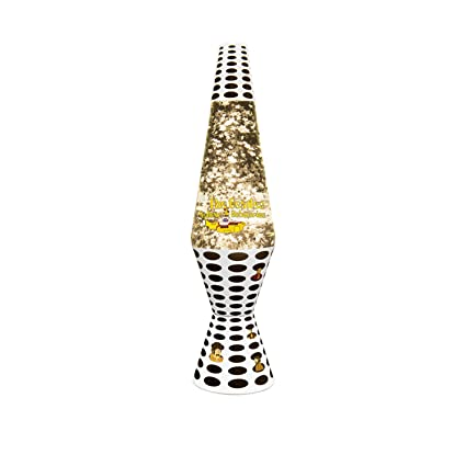 Wonderful 14.5 Inch Beatles Yellow Submarine Lava Lamp, Silver Star Glitter/Clear  Liquid