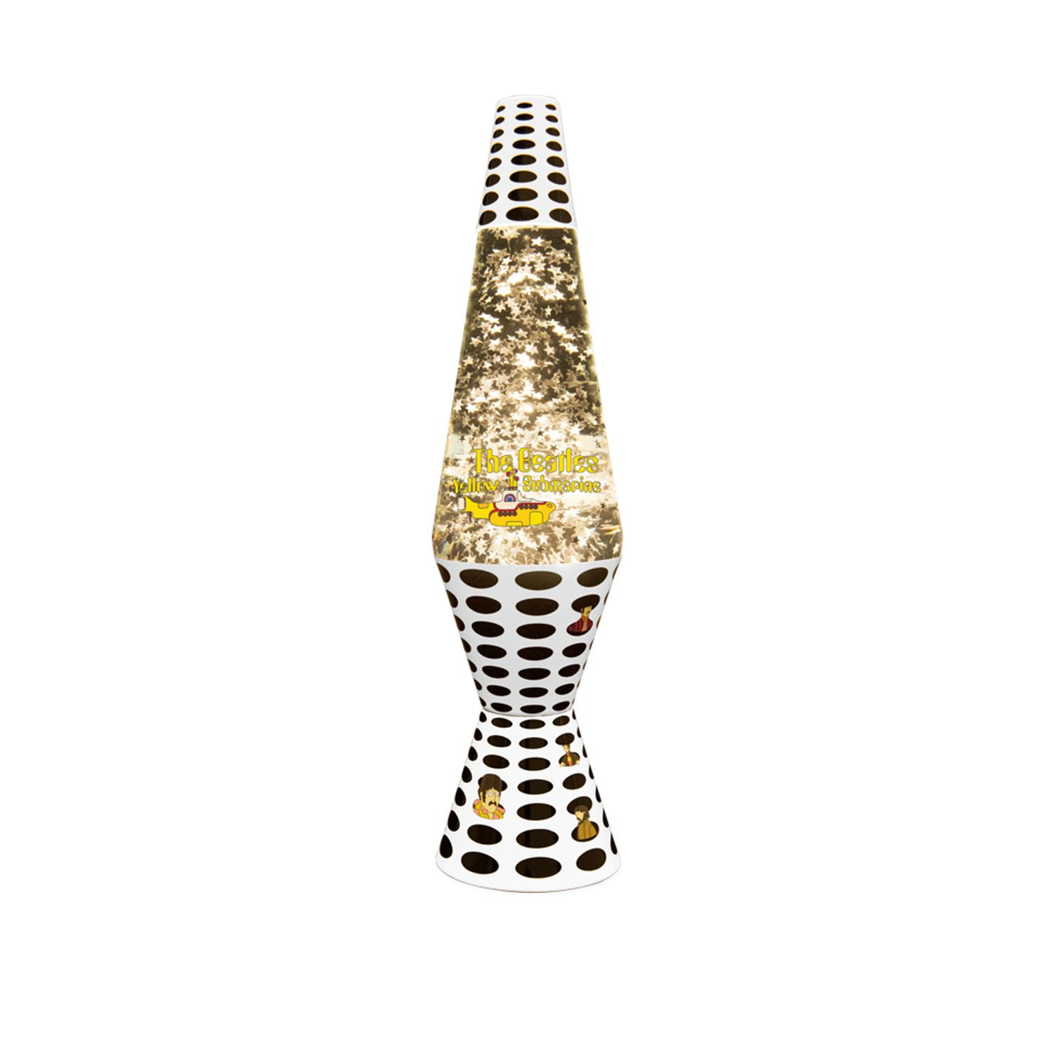 14.5-Inch Beatles Yellow Submarine Lava Lamp, Silver Star Glitter/Clear Liquid
