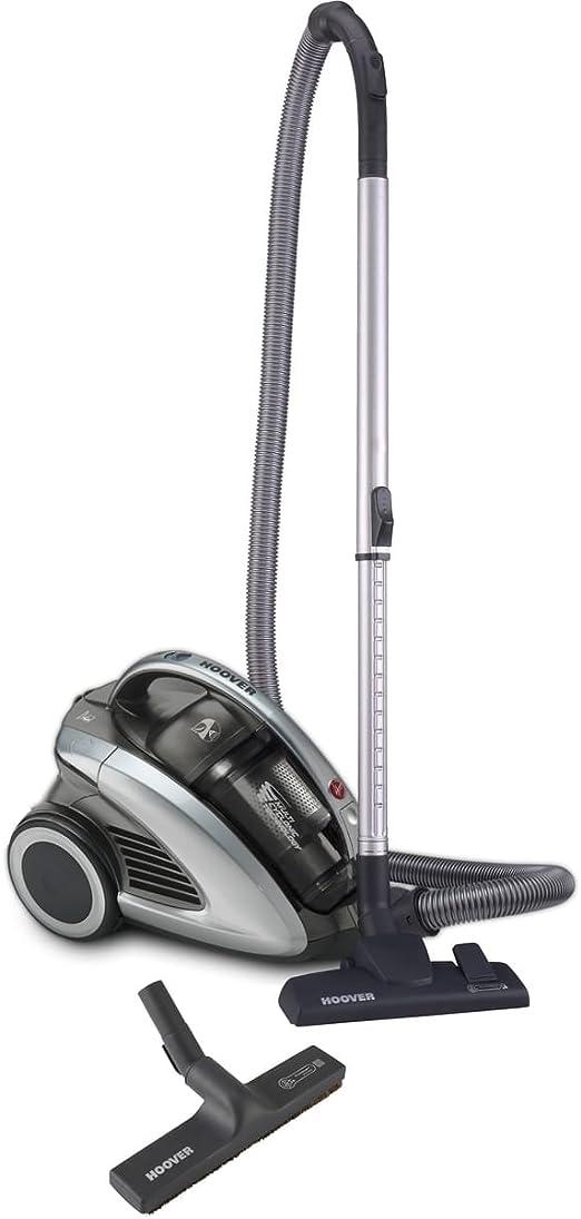 Hoover CU71 _ cu18011 – Aspiradora sin bolsa con tecnología de multizy WC/capacidad 1,5 L de depósito/87 Db/Tubo telescópico/27 kWh/año/filtro higiénico/Negro – Gris: Amazon.es: Hogar