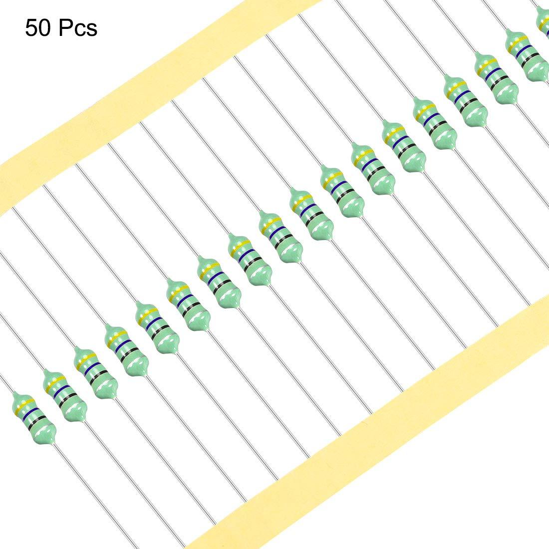 Sourcing Map 50stk 0512 Farbringinduktivität 100uh 1w Axial Hf Drosselspule Induktivität Gewerbe Industrie Wissenschaft