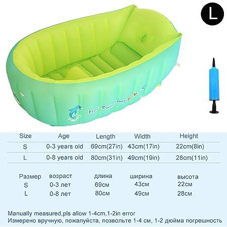 MASODHDFX Gran Juego de bañera Inflable portátil para niños ...