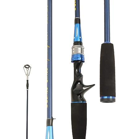 Entsport E Series – Sirius Rod Second Generation Sirius 2-Piece 7-Feet Blue Casting Rod Graphite Portable Baitcast Rod Inshore Baitcasting Fishing Rod Freshwater Baitcaster Rod
