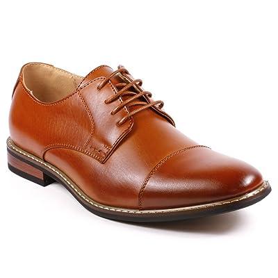 Metrocharm Alex-04 Men's Lace Up Cap Toe Oxford Dress Shoes | Oxfords