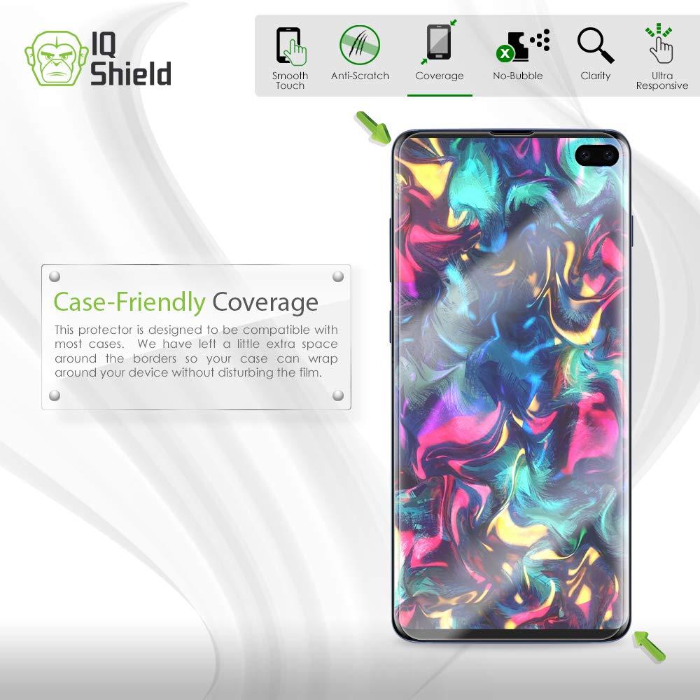 Samsung Galaxy S10 Plus Screen Protector (S10+ 6.4'')[Case Friendly](2-Packs)(Compatible w/Fingerprint ID), IQ Shield LiQuidSkin Full Coverage Screen Protector for Samsung Galaxy S10 Plus HD Clear Film by IQShield (Image #5)