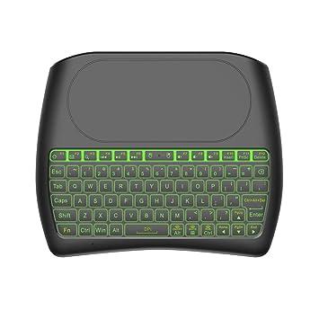 Teclado inalámbrico con Almohadilla táctil, 2.4GHz Mini Teclado Recargable Multimedia portátil de Mano para