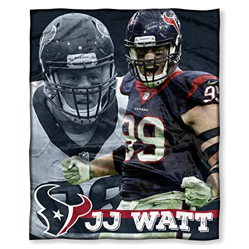 (The Northwest Company Officially Licensed NFL Houston Texans J.J. Watt Silk Touch Throw Blanket, 50