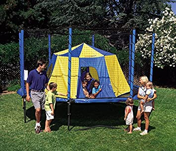 JumpSport Trampoline Tent Safe No-Pole Safety Design Giant Size 11 Across, 5.5 Tall Trampoline Bounce House or Have a Backyard Campout AlleyOOP Outback and JumpSport BigTop Tent Options