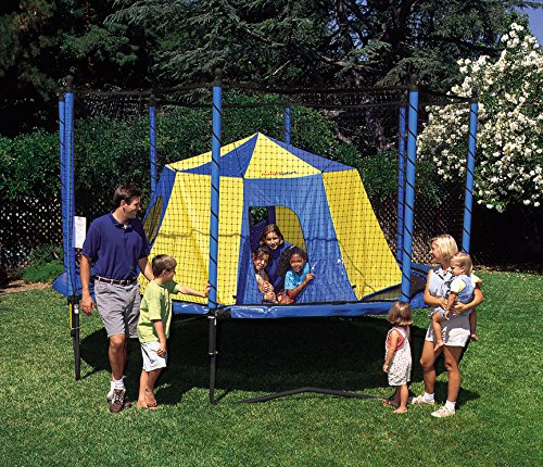 JumpSport - Tienda de campaña para cama elástica | Diseño seguro sin poste de seguridad | Tamaño gigante de 11 pulgadas...