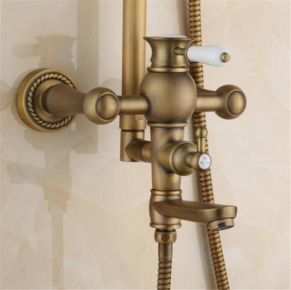 FFJTS Antique Shower Vintage Kupfer Dusche Set Dusche Antik Kupfer