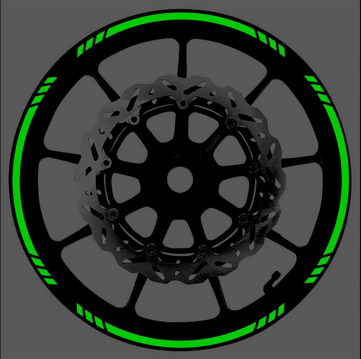 Vehicleartz DARK GREEN Reflective Speed Graduated Wheel Rim Tape Stripe fit Motorcycles, Cars, Trucks