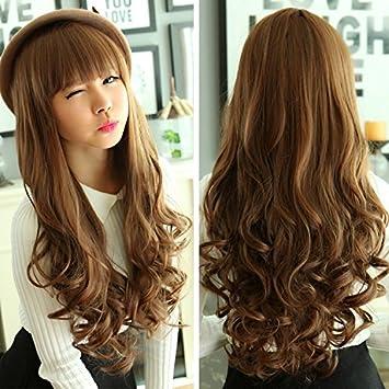 Amazon Korean Women Girls Female Wig Bangs Repair Face Long