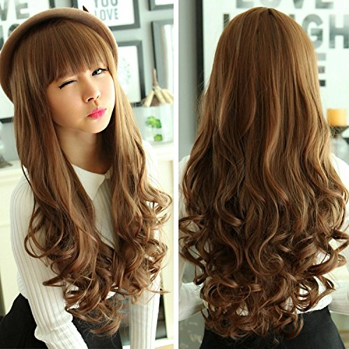 Amazon.com  South Korean women girls female long hair wig