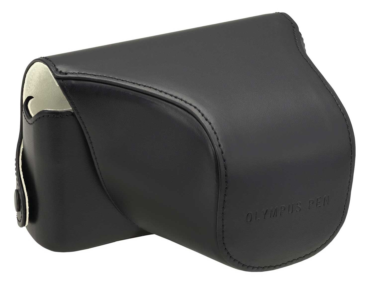 OLYMPUS Body and Lens Jacket Case Kit Mirror Interchangeable Lens for Leather Black Cs-12blmblk